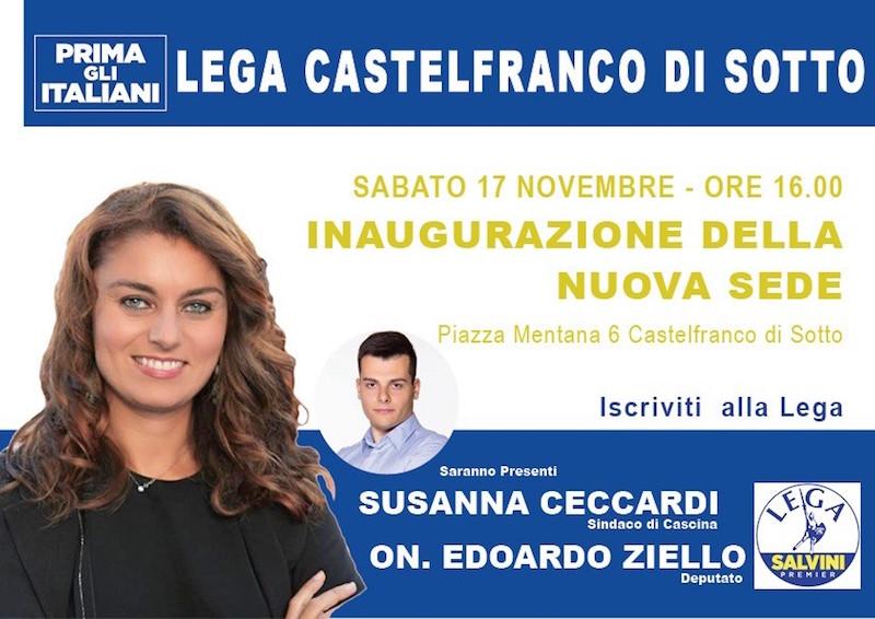 Lega, nuova sede a Castelfranco: Ziello e Ceccardi all'inaugurazione