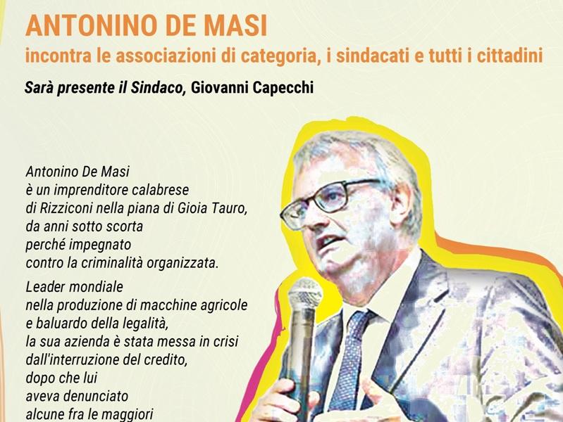 La battaglia etica dell'imprenditore Antonino De Masi: incontro a Montopoli e San Miniato