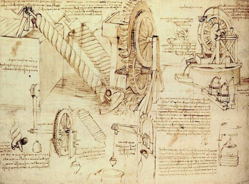 water-lifting-devices leonardo da vinci