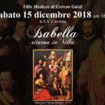 Evento Villa Madicea Isabella ritorna in villa 15-12-2018