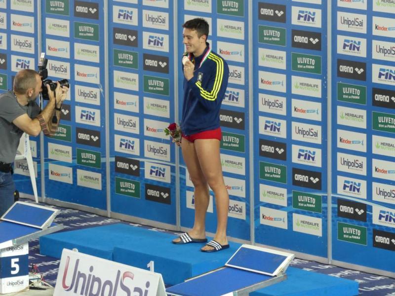 Lorenzo Tarocchi con la medaglia_d'oro