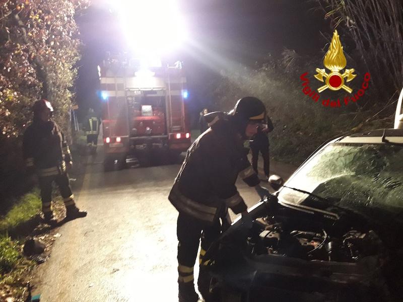 Frontale tra auto a Castelfiorentino, un ferito grave