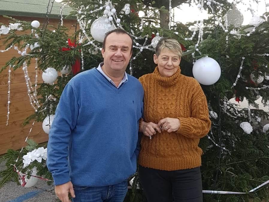 Virgilio Ruglioni con la collega Carla Casini