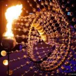2016 Rio Olympics - Opening ceremony - Maracana - Rio de Janeiro, Brazil - 05/08/2016. The Olympic cauldron is lit at the opening ceremony. REUTERS/Ivan Alvarado