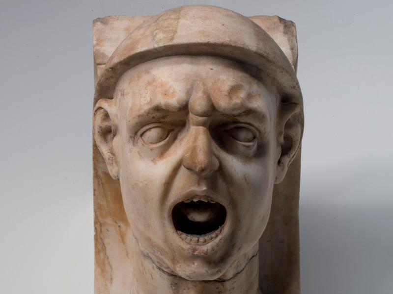 Lapidarium, Maestranze fiorentine, Mensola con testa maschile, Museo dell'Opera del Duomo