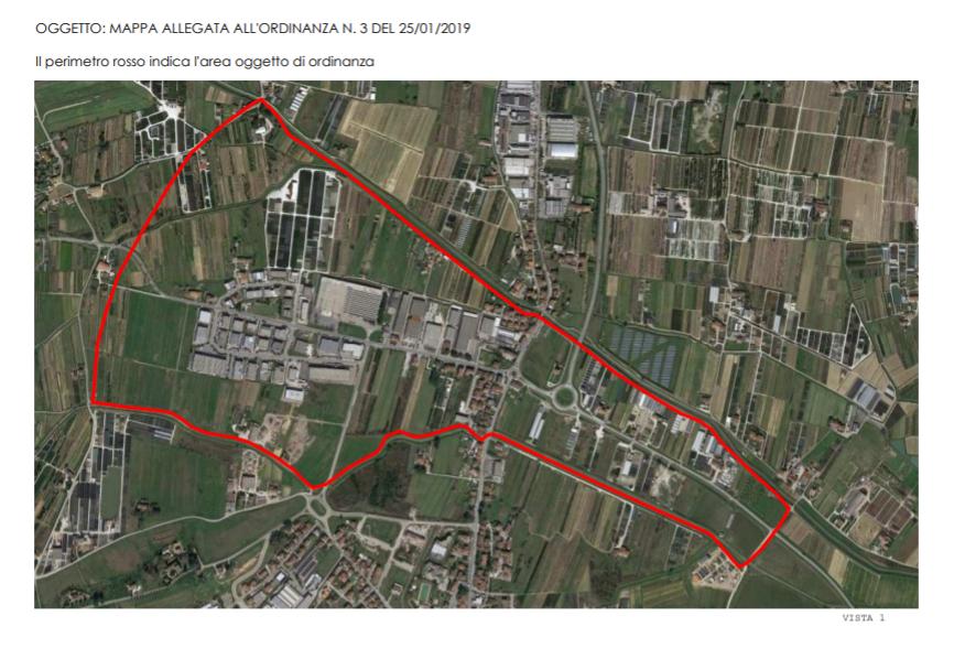 mappa divieto uso acqua falda inquinata serravalle 2019