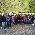 studenti americani nella piazzetta dei mosaici del Parco di Pinocchio_21012019