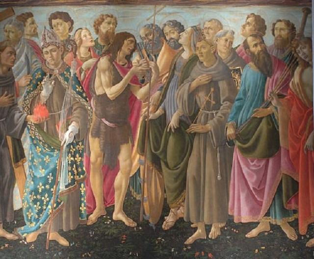 thumbnail_Sandro Botticelli e bottega_Incoronazione della Vergine e santi_dettaglio