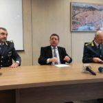 (Foto gonews.it) Tenente Colonnello Raimondo Galletta, procuratore Giuseppe Creazzo, Colonnello Carlo Levanti