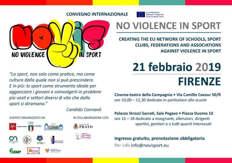 No alla violenza nello sport