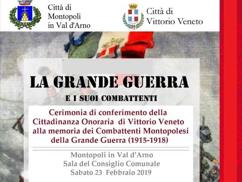 Cittadinanza onoraria di Vittorio Veneto per gli ex combattenti montopolesi