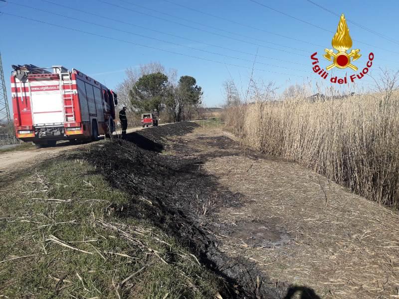 Muore 81enne nell'incendio di un canneto a Dogana