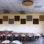 pannelli fonoassorbenti nelle sale dedicate al pranzo delle scuole materne ed elementari di Altopascio