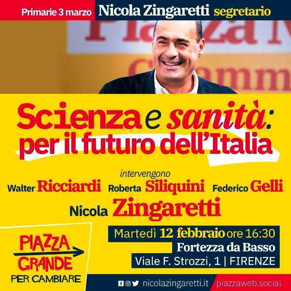 Nicola Zingaretti a Firenze