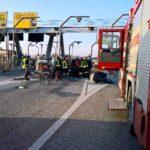 intervento dei vigili del fuoco a Cecina