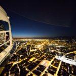 Firenze, elicottero A139 della Polizia di Stato in volo con 8° Reparto Volo di Firenze al crepuscolo sopra la città 2016 02 18 © Massimo Sestini