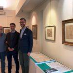 il sindaco Francesco Puggelli, l'assessore alla Cultura Giacomo Mari e il professor  Luigi Cavallo