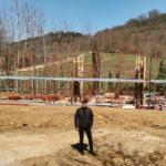 assessore Roberto Ciappi, cantiere nuova scuola Bargino