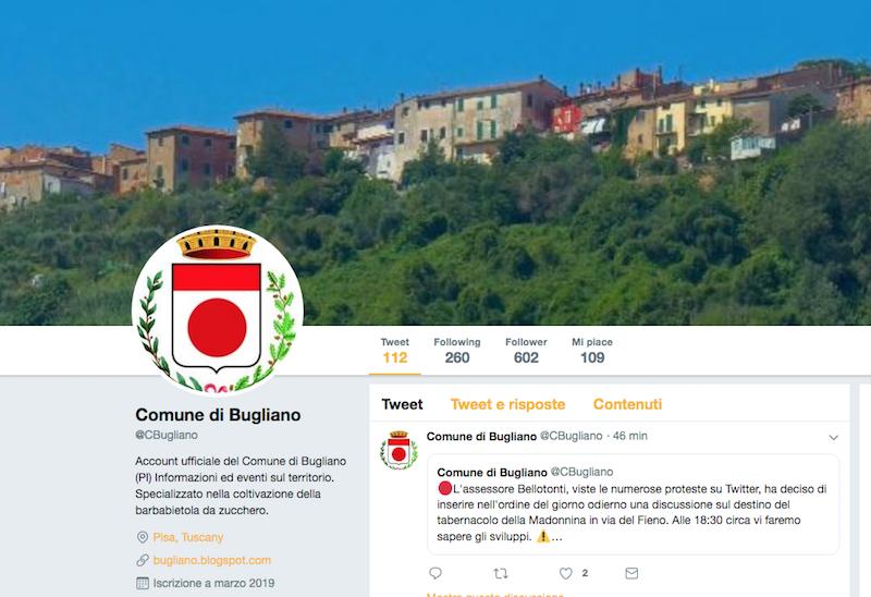 Benvenuti a Bugliano, il Comune pisano (inventato) che fa divertire Twitter