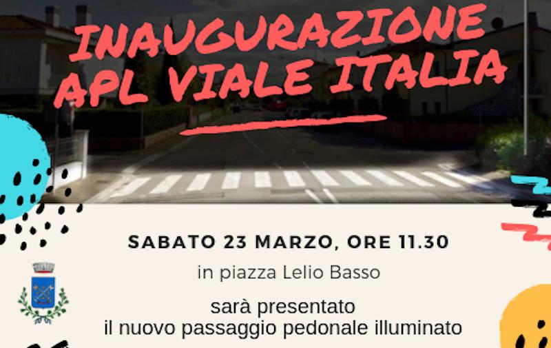 Solidarietà e commercio, a Castelfranco le nuove strisce pedonali illuminate
