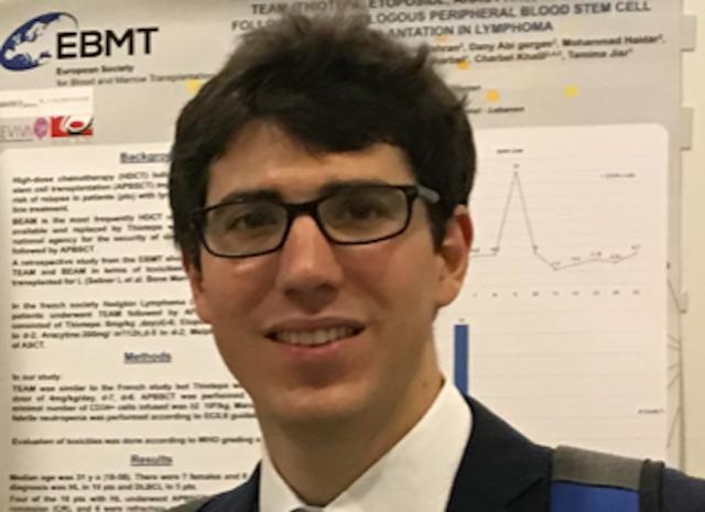 Trapianto midollo: Alessandro Di Gangi, specializzando a Pisa, nell'EBMT Young Ambassador 2019