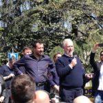 Matteo Salvini e Ubaldo Bocci (foto gonews.it)