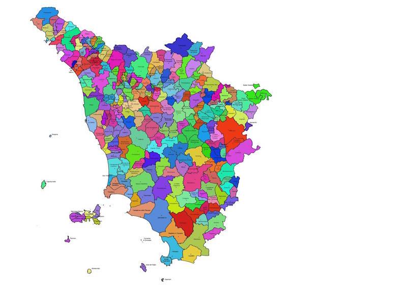 Cartina Della Toscana Con Tutti I Comuni.Tuscany War Bot 2020 Spopola Su Facebook Ecco Cos E