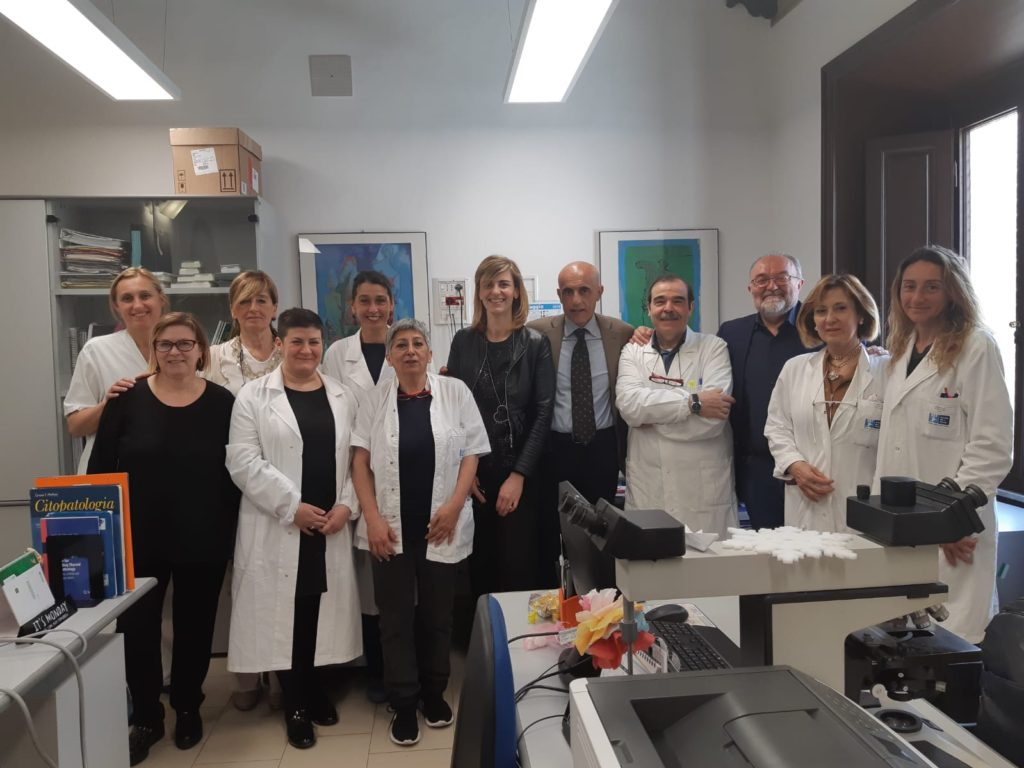 èquipe di anatomia patologica con dott.ssa Sara Melani e dottor Emanuele Gori e Dott. Paolo Morello Marchese