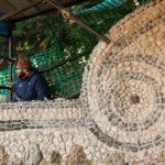 Il Grande Restauro delle Rampe_Completamento restauro mosaico anfiteatro volute di sx 3¯ Livello_Foto George Tatge