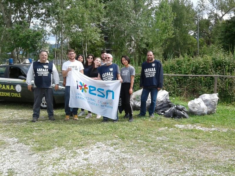 Parco di Cisanello ripulito da 600 kg di rifiuti