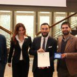savini tartufi ritira il premio cristiano savini con sindaco Palaia Marco Gherardini, Giovanna De Pasquale, Federico Pieragnoli