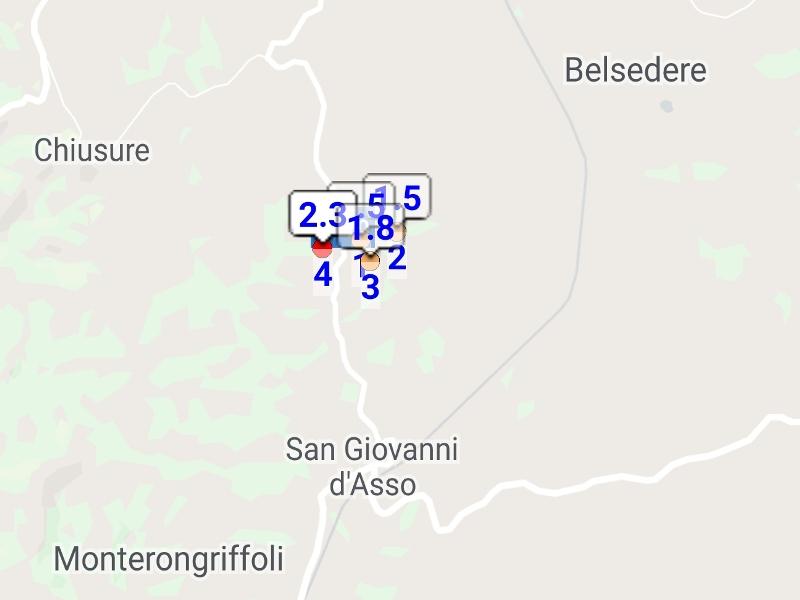 Quattro scosse di terremoto nel Senese