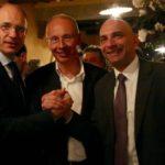Da sinistra Enrico Letta, Andrea Pieroni e Gabriele Toti