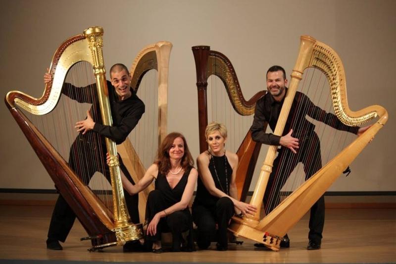 Concerto al Porto di Pisa, il quartetto Arpe Diem accompagna il tramonto sul mare