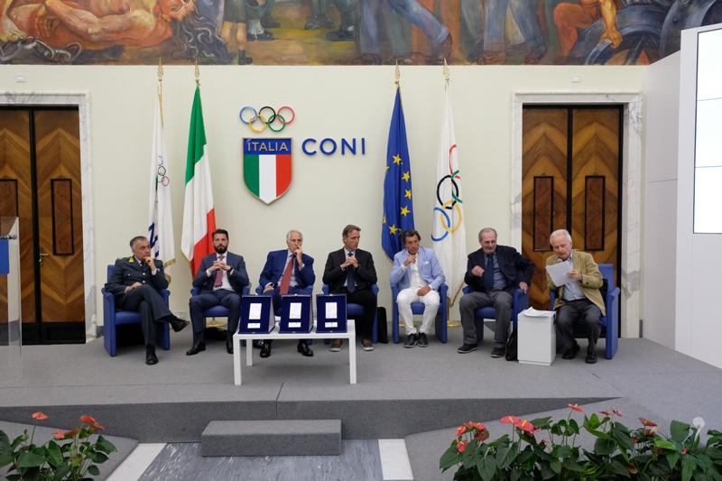 Conferenza stampa Premio Fair Play Menarini Salone d'Onore CONI
