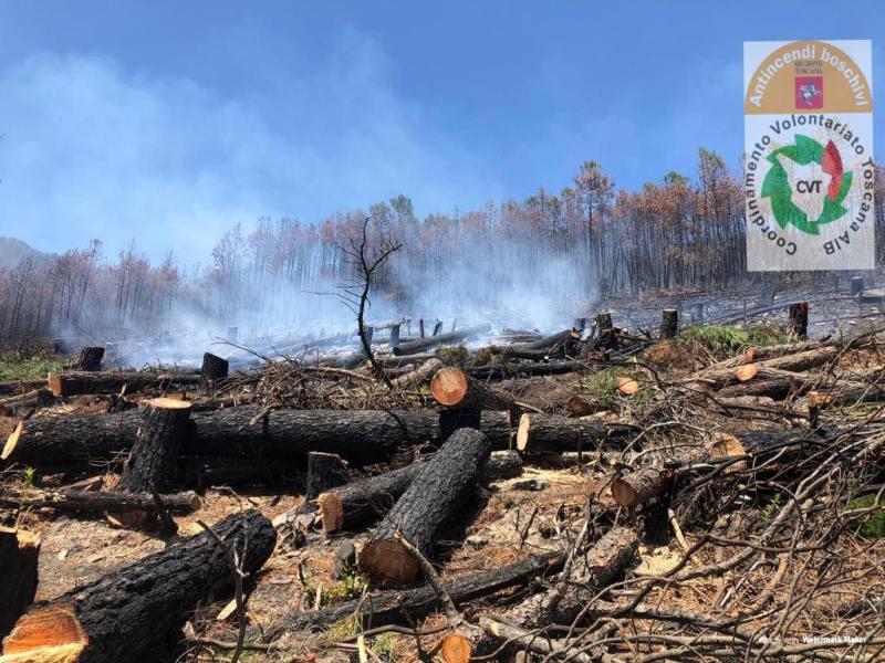 Incendio alla Verruca sul Monte Serra ora sotto controllo