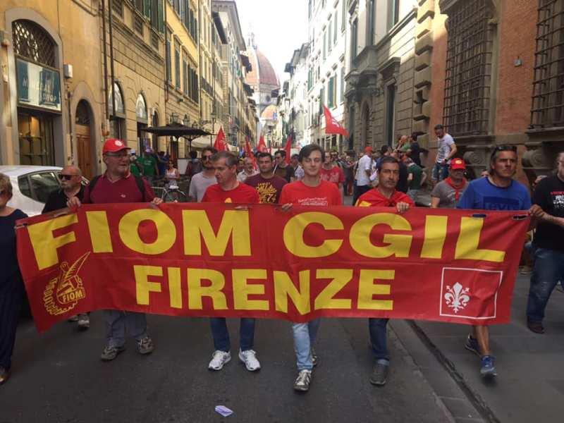 Foto dalla Pagina Facebook Cgil Firenze