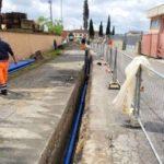 Via del Fosso lavori acque montecalvoli2