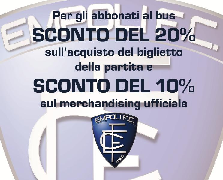 Accordo tra Empoli FC, Ctt Nord e CAP: sconto del 20% del biglietto dello stadio per gli abbonati