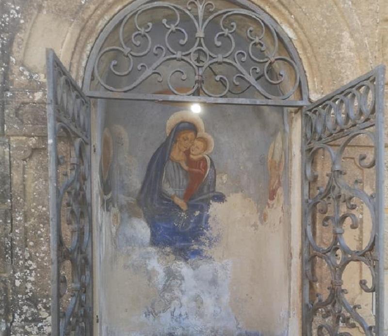 È iniziato il restauro della Madonnina con Bambino a Montaione - gonews.it - gonews