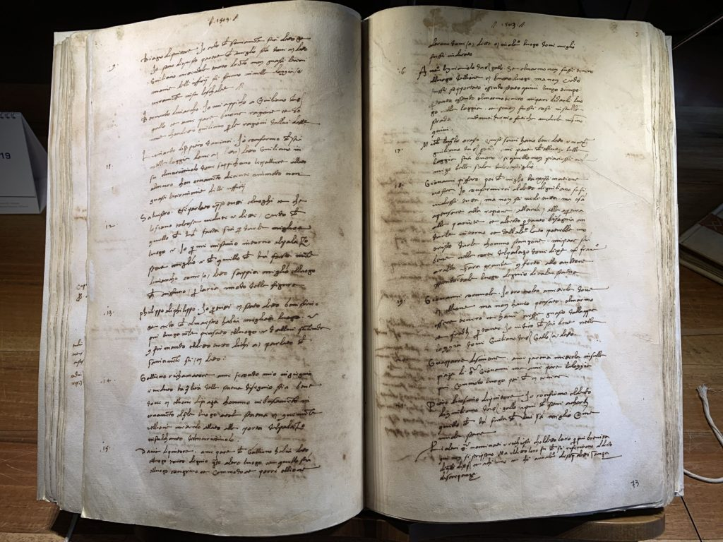 Verbale riunione 25 gen 1504, Archivio dell'Opera di Santa Maria del Fiore