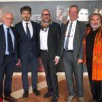 Foto Conferenza stampa (da sx) Marco Giorgetti, Tommaso Sacchi, Matteo Franconi, Antonio Chelli, Luca Dini