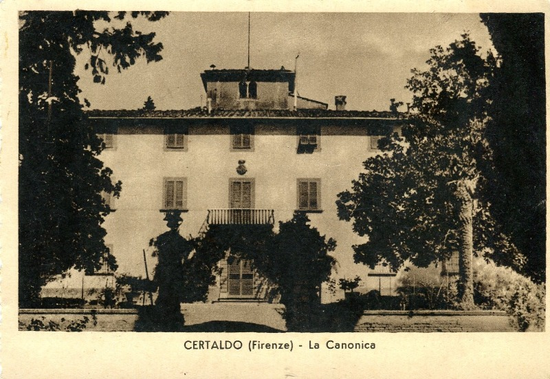 VILLA DI CANONICA - un cartolina ottocentesca - collezione personale Maria Merlini