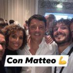 Un selfie di Edoardo Fanucci con Matteo Renzi all'ultima Leopolda