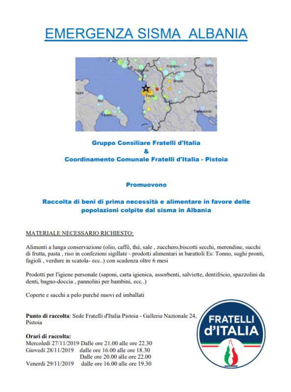 Terremoto_Albania_Fratelli_D_Italia_Pistoia__