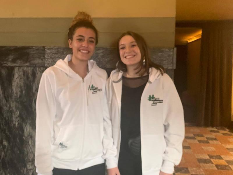 Da sinistra Alessia Colca e Amelia Pecoretti