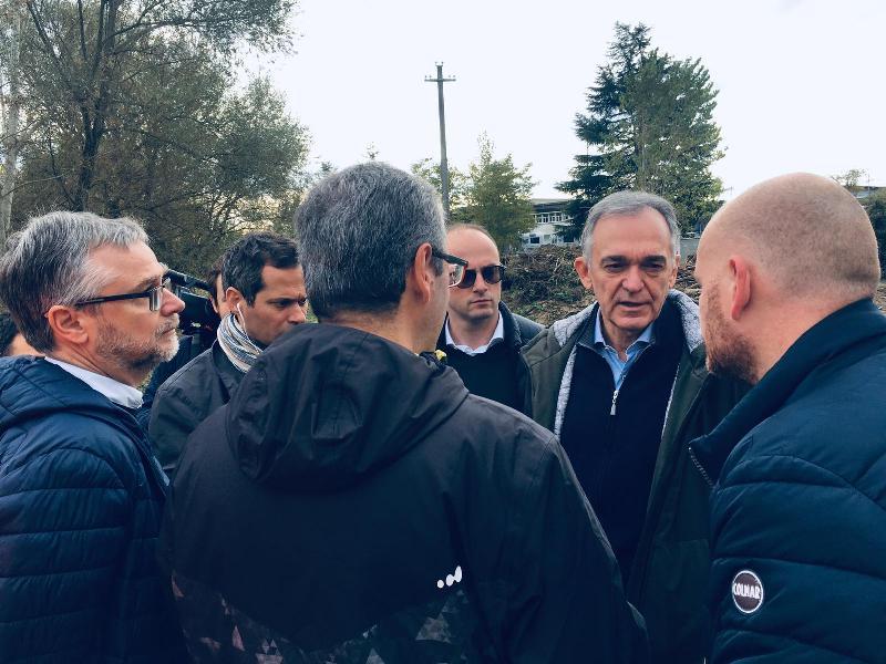 """Maltempo Valdelsa, la visita di Rossi: """"Soldi in sicurezza idraulica spesi bene"""""""