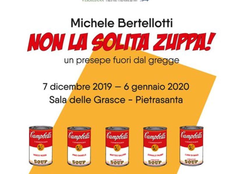Presepe con Salvini, Trump e Di Maio in centro a Pietrasanta