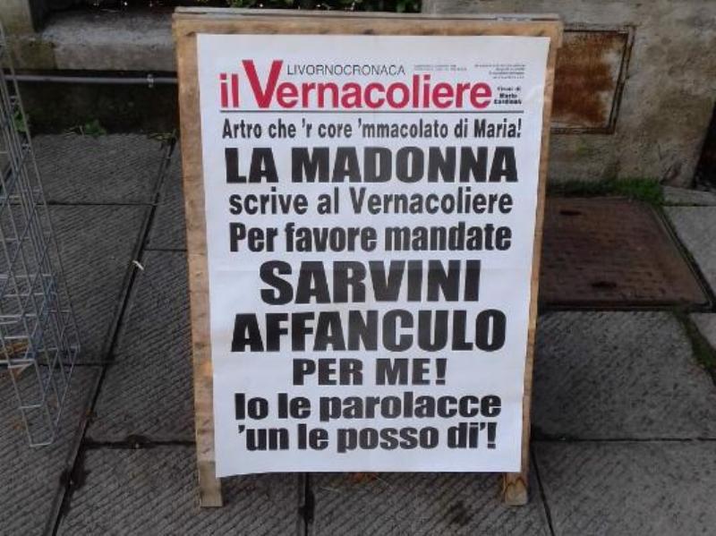 Lasciate stare la Madonna, Salvini polemizza con il Vernacoliere