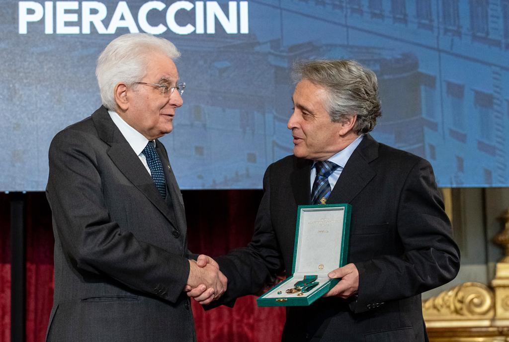 Organi in viaggio per tutto il mondo, Massimo Pieraccini premiato dal presidente Mattarella